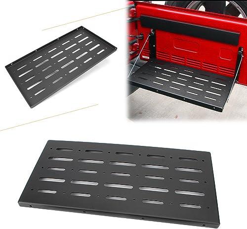 2021 Mallofusa Folding Tailgate Table Rear Door Storage Rack Shelf online Compatible for Jeep Wrangler JK 2007 2008 2009 2010 2011 2012 2013 discount 2014 2015 2016 2017 Black sale