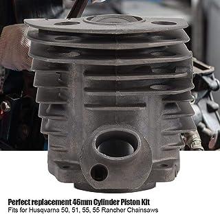 Sutinna Kit de Pistón de Cilindro, Kit de Junta de Pistón de Cilindro de 46 mm para Motosierra de Motor Husqvarna 50,51,55...