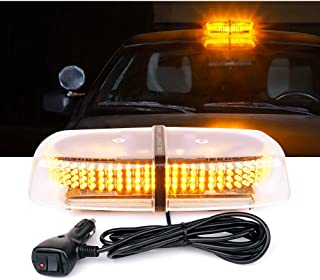 Lumenix Amber Yellow LED Strobe Light 240 Led Rooftop Flashing Beacon Lights Emergency Hazard Warning Law Enforcement Light Bar with Strong Magnetic Base for TowTruck Construction Vehicle SnowPlow Car