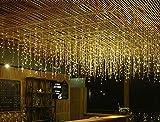 LED Weihnachtssterne Eislaternen Wasserfall Hängende Lichterketten Sterne Im Freien Wasserdichte Lichterketten Urlaub Hintergrund Hochzeit Dekorationen 4 * 0,6 96Led