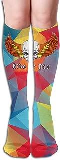 Design Ride Or Die Orange Flag Skull Women Full Socks Long Socks Knee High Socks