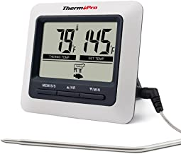 ThermoPro TP04 Digital Bratenthermometer Grillthermometer Ofenthermometer Fleischthermometer mit integriertem Countdown Timer