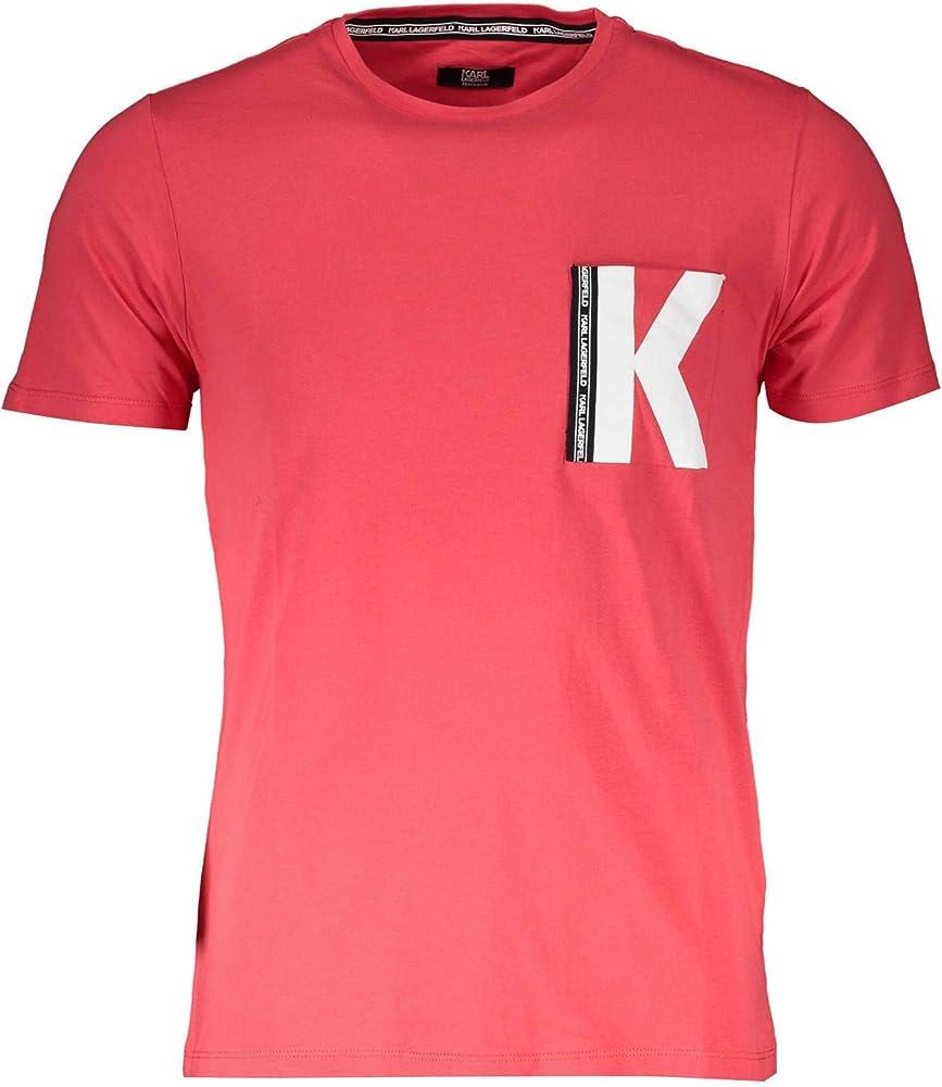 Karl lagerfeld t-shirt .maglietta per uomo maniche corte,100% cotone 132689