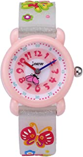 Kinderhorloge Butterfly Cartoon Leuke Waterdichte Tijd-Aware Horloges Quartz Siliconen Horloges Kids Horloges
