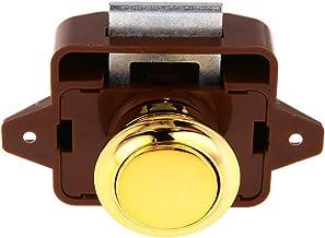Demiawaking Push Lock knop vangen slot kast deurkruk caravans camper RV lade push latch (goud)