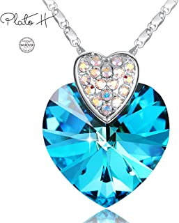 """PLATO H Love Heart Necklace """"You are My Soulmate""""Heart..."""