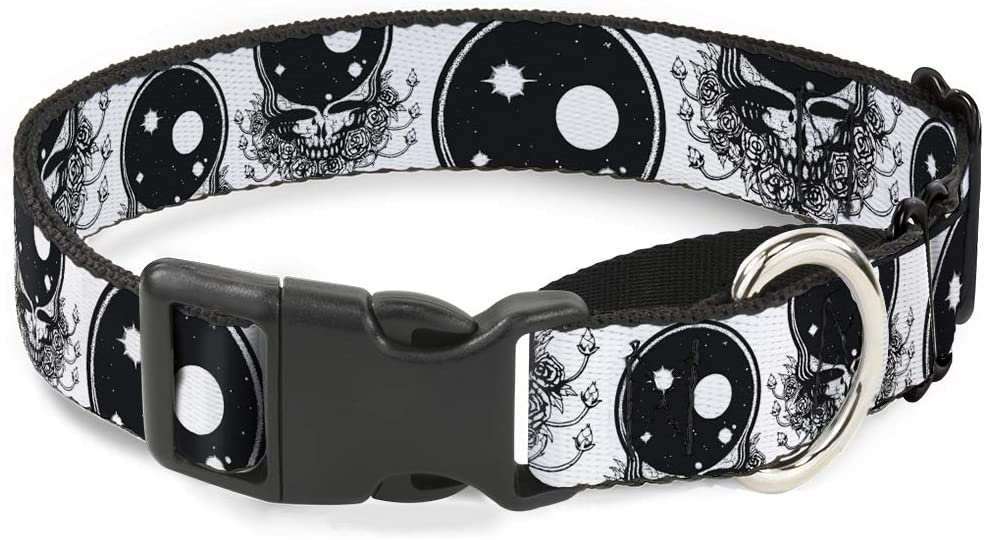 Buckle-Down Challenge the lowest price of Japan ☆ Dog Collar Martingale Grateful Skull Dead NEW Text Roses
