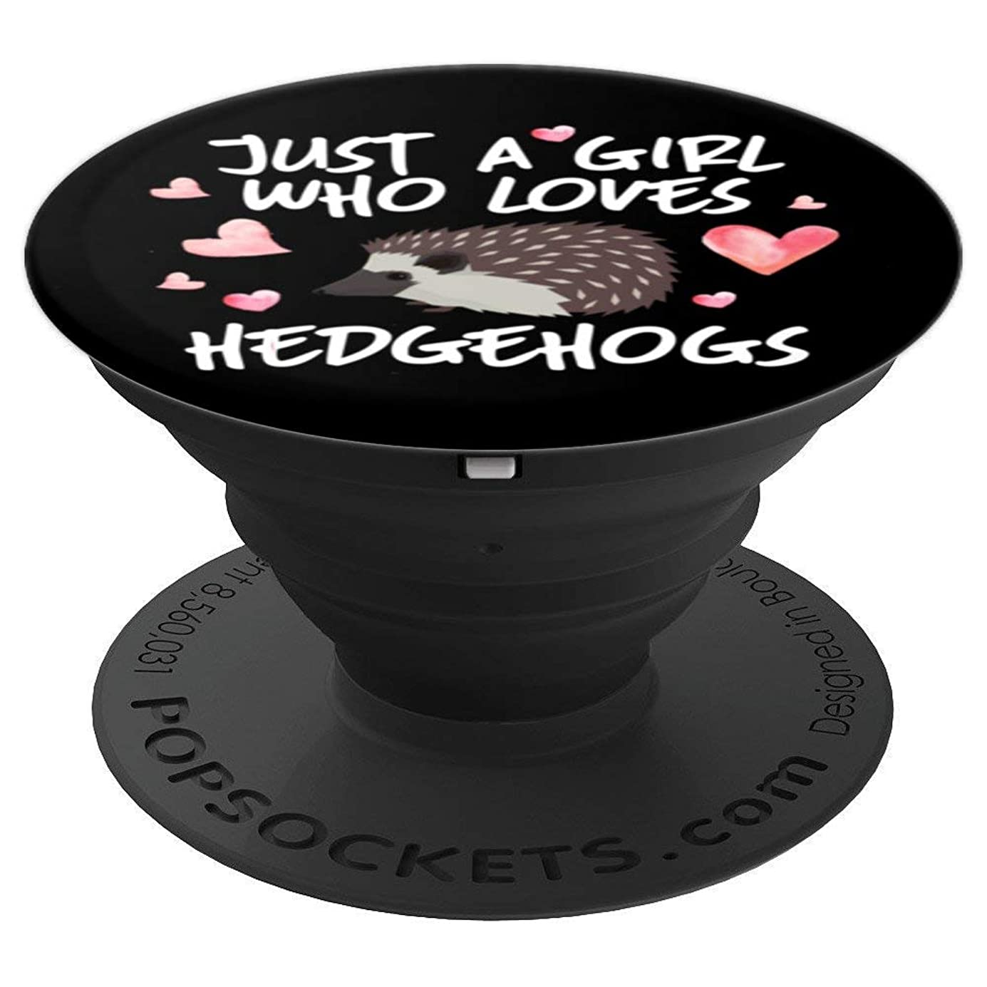 Just A Girl Who Loves Hedgehogs Funny Cute Hedgehog Gift - PopSockets Grip and Stand for Phones and Tablets gzflds3860