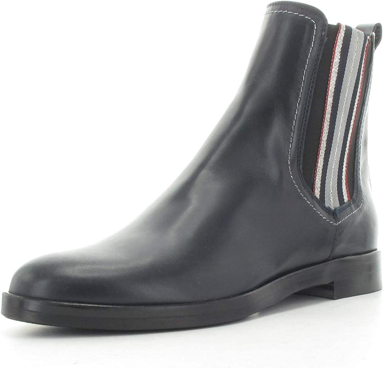 MARIPE 27690-173548 Chelsea Stiefel mit dünner Gummisohle - Obermaterial Nappaleder navy blau - Lederfutter - Made in