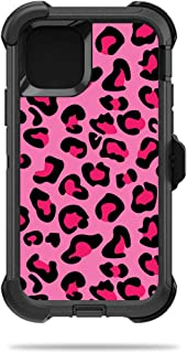 MightySkins Skin for OtterBox Defender iPhone 11 Pro - Pink Leopard | Protective, Durable, and Unique Vinyl Decal Wrap Cover | Easy to Apply, Remove, and Change Styles | Made in The USA