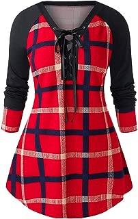 LEKODE Dress Women's Lattice Printing Long Sleeve Ball Gown
