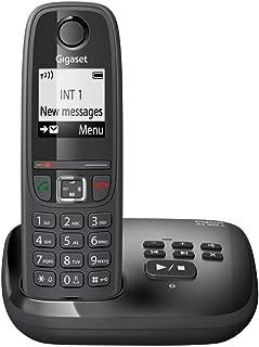 Gigaset AS405A Telefono Cordless, Segreteria Telefonica, Numeri Grandi sul Display, Esclusione della Suoneria per Fasce Orarie, Nero [Italia]