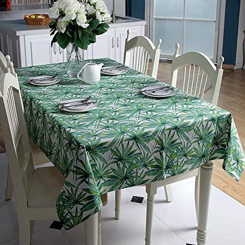Katoen Doek Blad Tropische Regenwoud Banaan Blad Bamboe Blad Thee Tafelkleed 100x140cm