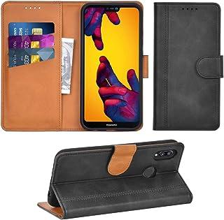 CUAgain /Étui Compatible avec Huawei P20 Lite Cuir Clapet a Rabat Silicone Motif Dr/ôle Magnetique Antichoc Coque Huawei P20 Lite PU Case Portefeuille Femme Fille Homme,Arbre Rouge