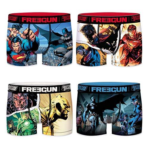 Freegun Herren Boxershorts DC Comics Justice League Gr. M, 4er Pack 2020