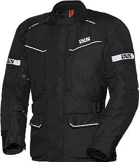 IXS Evans de St Hombre Motocicleta textil Chaqueta Touring–Negro