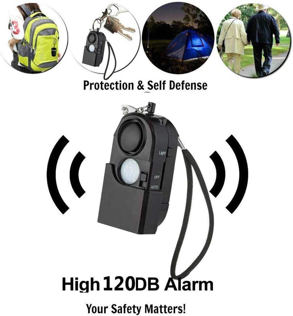 Kinder Taschenalarm 120 db Pers/önlicher Alarm mit Schl/üsselanh/änger Taschenlampe LED Licht,Sirene zur Selbstverteidigung f/ür Frauen /ältere Menschen und Camping