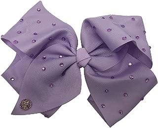 JoJo Siwa Large Cheer Hair Bow (Lavender w/Rhinestones)
