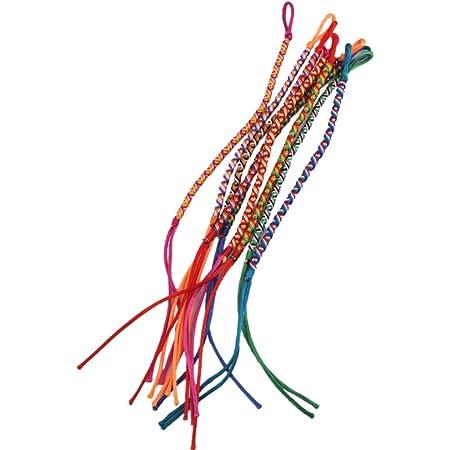 9 pulseras, pulseras de tobillo de la amistad trenzadas, estilo hippy, colores aleatorios