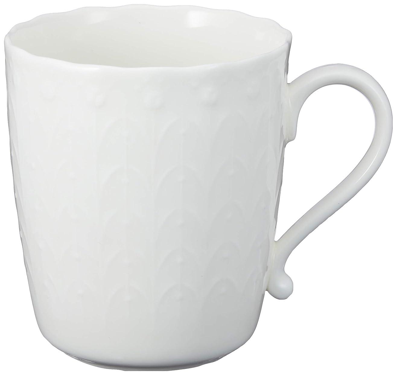 わずかなフライトボリュームNARUMI(ナルミ) マグカップ シルキーホワイト 330cc 電子レンジ温め 食洗機対応 9968-2583P