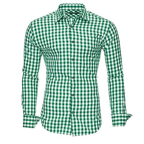 Kayhan Herren Hemd, Oktoberfest Grün M