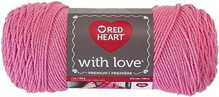 Red Heart E400.1704 Love Yarn, Bubblegum, Solid - Bubble Gum