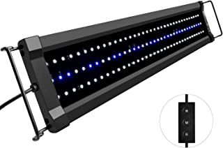 NICREW ClassicLED Gen 2 Aquarium Light, Dimmable LED Fish Tank Light with 2-Channel Control, White and Blue LEDs, High Output