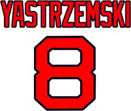 Carl Yastrzemski Boston Red Sox Jersey Number Kit, Authentic Home Jersey Any Name or Number Available