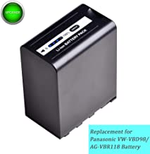 VW-VBD98 AG-VBR118 1 Pack 11200mAh 7.4V Replacement Battery for Panasonic VBD98 VBR118, AG-3DA1 AG-AC8 DVC30 DVX200 HPX171 HPX250 HPX255 HVX200 HVX201 AJ-PX270 AJ-PX298 AJ-UX180 X1000 Z10000 Camera.