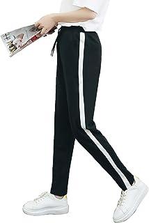 CHRLEISURE レディース サイドラインパンツ スポーツ ジャージ 下 カジュアル ライン ジョガー パンツ