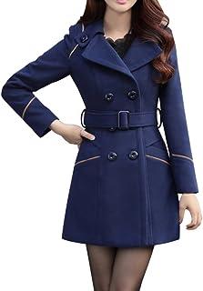 BoodTag Women Winter Overcoat Collared Casual Slim Casacos Jacket Autumn Winter