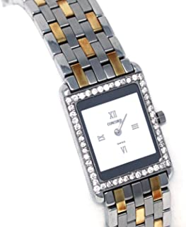 Concord Delirium Steel and 18k Gold Diamond Bezel 2.8mm thick ( the thinnest watch ) Women's Watch