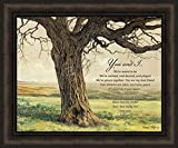 Home Cabin Décor Forever by Bonnie Mohr 20x24 You and I Inspirational Marriage Anniversary Framed Art Print Picture