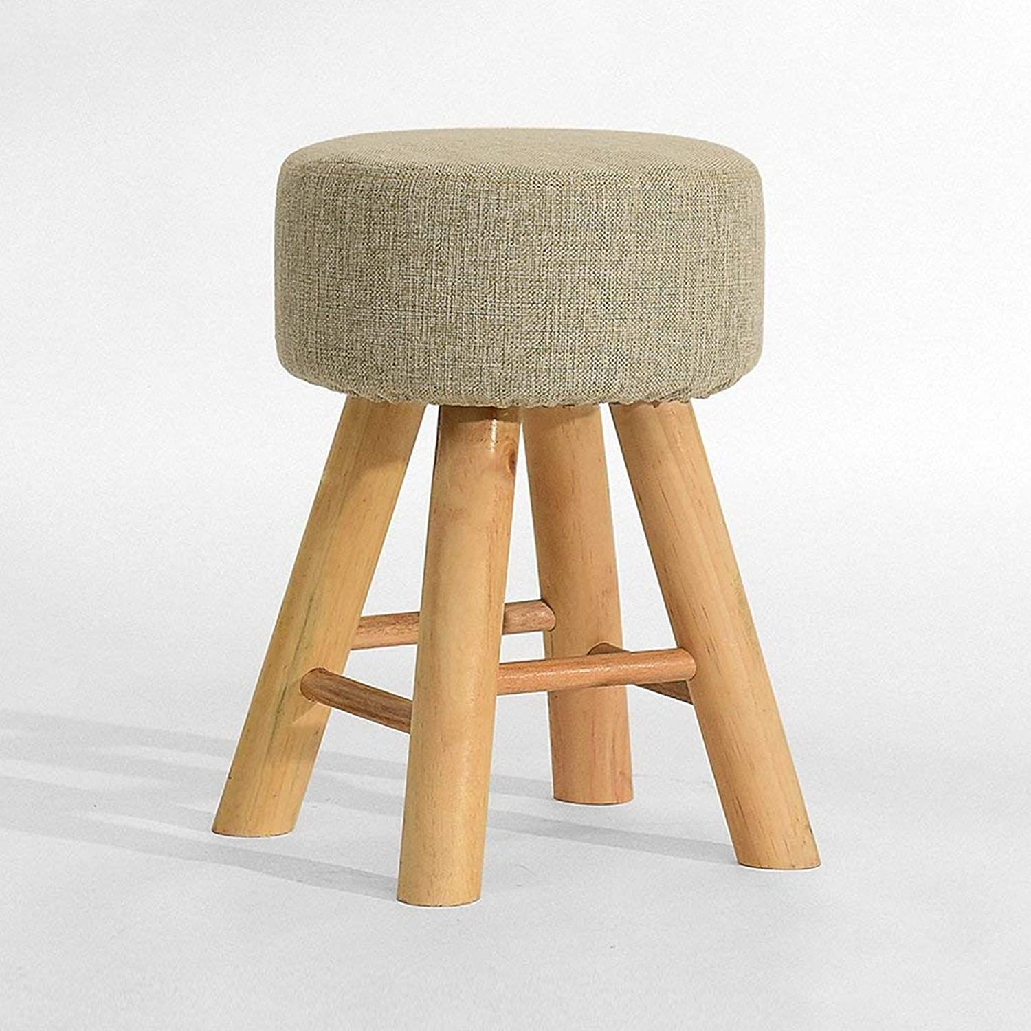 FENGTAIQIAN Solid wood dining stool fashion creative fabric stool dressing stool home stool - small stool (color   B)