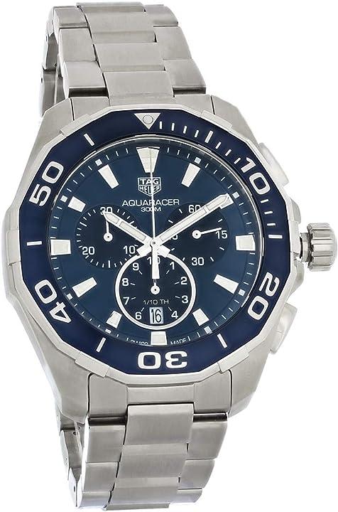 Orologio tag heuer mens aquaracer cronografo in acciaio inossidabile CAY111B.BA0927