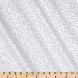 Classic Tone on Tone Vines White/ White, Quilting Fabric by the Yard