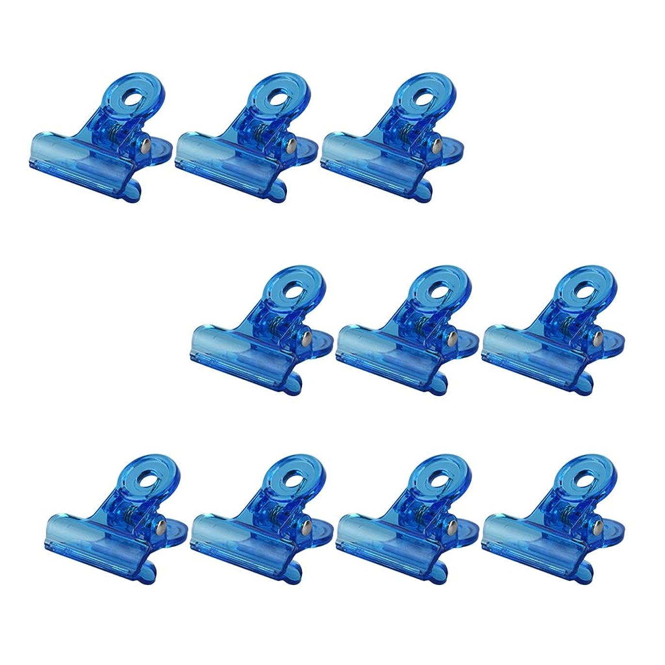 ワードローブ耳会社T TOOYFUL ネイルクリップ ネイルプロテクター ネイルアートツール 滑り止め 再利用可能 10個セット 全4色 - 青