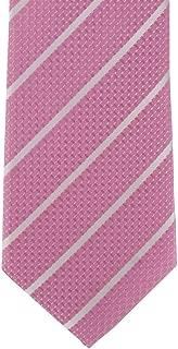 Michelsons of London Mens Classic Single Stripe Silk Tie - Pink