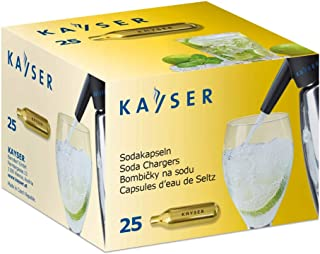 Kayser Lot de 25 capsules de soda CO2