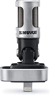 Shure MV88 Portable iOS Microphone for iPhone/iPad/iPod via Lightning Connector,..