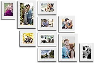 Art Street Dynamic Set of 10 White Individual Wall Photo Frames