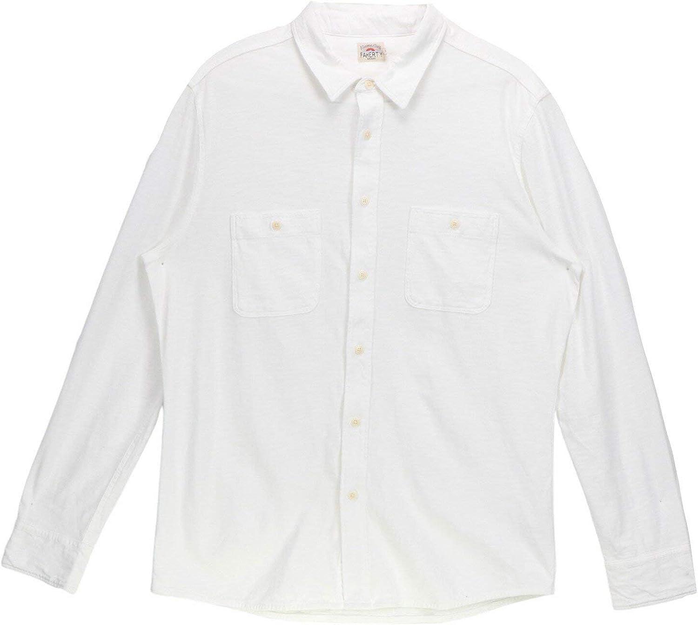 Faherty Knit Seasons Shirt White
