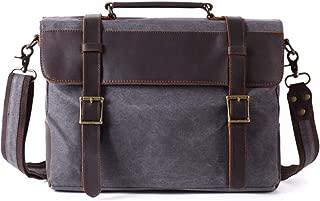 Mens Bag Office Vintage Style Backpack Handbag Casual Business Briefcase Shoulder Messenger Crossbody Satchel Bag,Black/Fuchsia/Green/Khaki High capacity