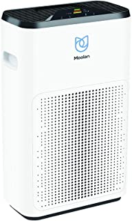 Moolan Air Purifier 5-in-1 HEPA Filter for Home Air Cleaner Reduce Smoke, Dust, Odor,Pollen and Pet Dander, Air Quality Monitor