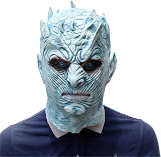 Halloween Novelty Mask Game of Thrones Night's King White Walker Costume Mask Party Props Mask Creepy Latex Head Mask for Men