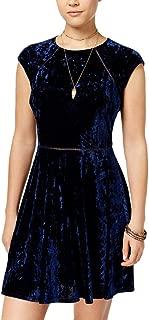 Women's Cap Sleeve Velvet Dress