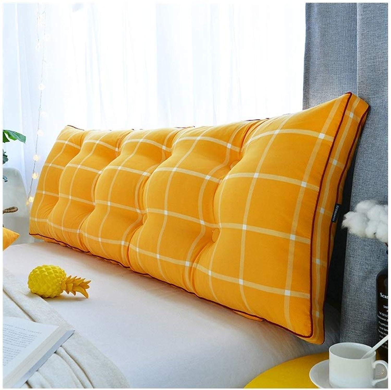 YHEGV Coussin de tête de lit, canapé Double Triangle Grand Sac Souple à l'arrière, Tatami Amovible et Lavable, Coussin de tête de lit (Couleur  A, Taille  180  20  50cm)
