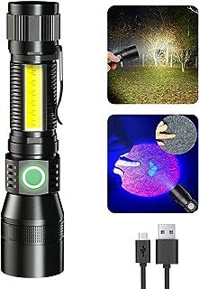 Magnetic Blacklight, LED Flashlight Rechargeable, uv...