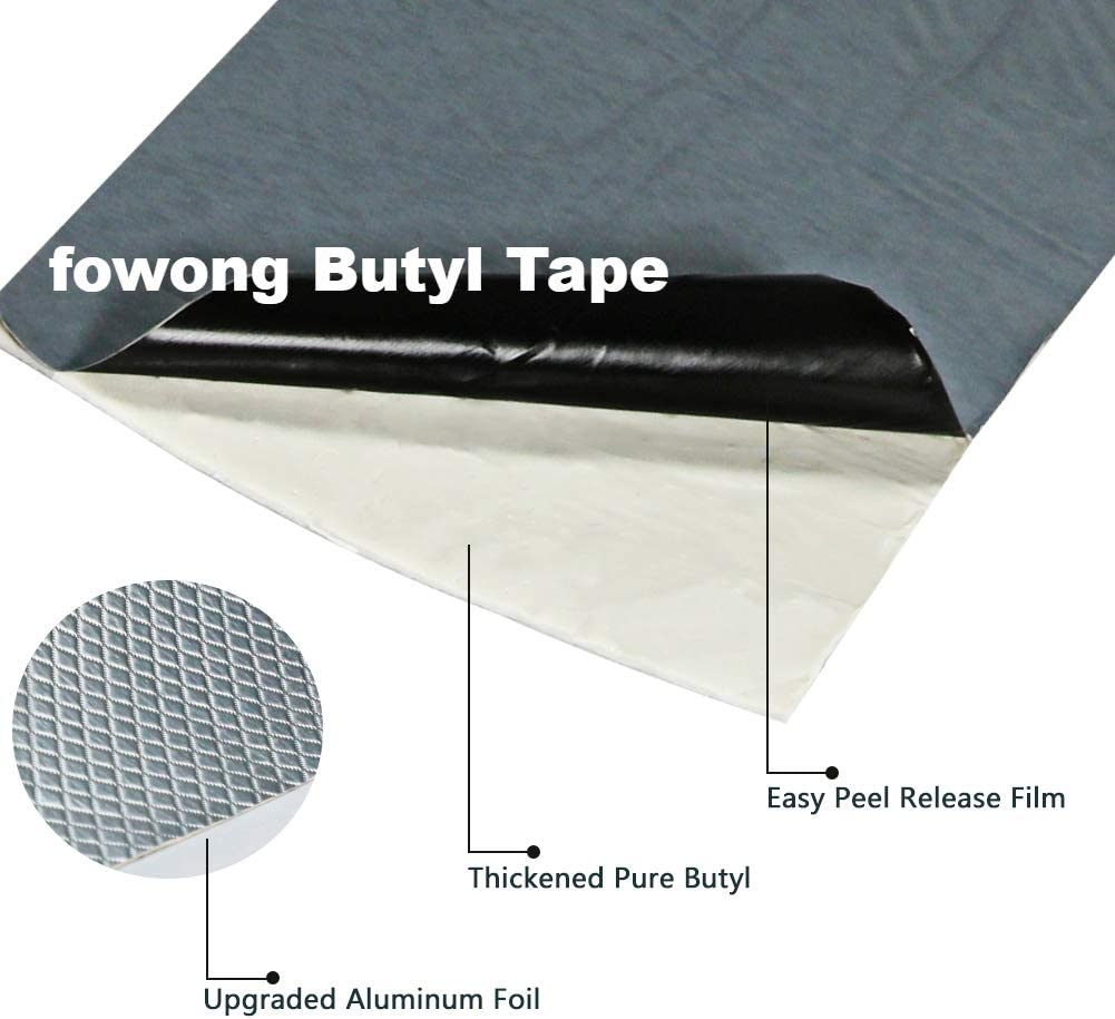 RV Repair Leak Repair Tape for Roof Boat Sealing Heavy Duty Rubber Putty Tape for Surface Crack Pipe Rupture Window fowong Aluminum Foil Butyl Rubber Tape 1-1//5 W Gutter