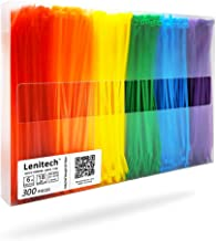 Lenitech 6 300 Pcs Multi-Purpose Cable Ties, Assorted Colored